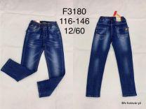 JEANSY CHŁOPIĘCE 116-146 F3180